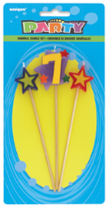 Number Seven 7 Number Stars Birthday Cake Candles